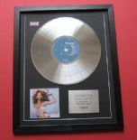 BEYONCE - Dangerously In Love CD / LP PLATINUM PRESENTATION DISC